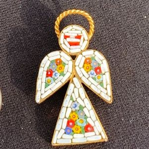 Vintage Micro Mosaic Angel Made in Italy